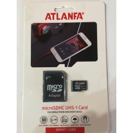 карта памяти 4Gb class 6 (adapter SD) ATLANFA