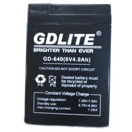 аккумулятор GDLITE GD-440 4V 4.0Ah Rechargeable Seald Lead-Acid Battery