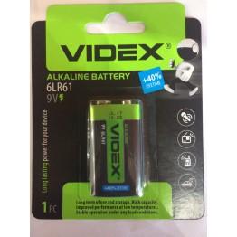 батарейка VIDEX ALKALINE 6LR61 9V (крона) (1шт/12шт/240шт)