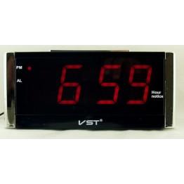 настольные часы говорящие от сети с красной подсветкой VST-731T-1