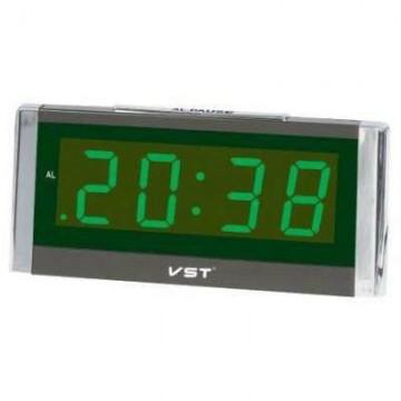 настольные часы говорящие от сети с зеленой подсветкой VST-731T-2