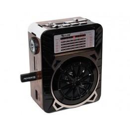 радиоприемник от сети с USB, SD, аккумулятором и со светодиодным фонариком 16см*12.5см*8.5см GOLON RX-9122
