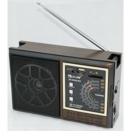 радиоприемник от сети с USB, SD и с аккумулятором 21.5см*13.5см*7.5см GOLON RX-9922UAR