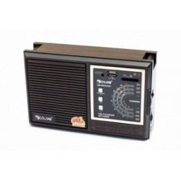 радиоприемник от сети с USB, SD и с аккумулятором 21.5см*13.5см*7.5см GOLON RX-9933UAR
