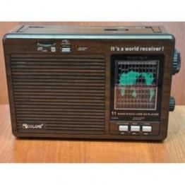 радиоприемник от сети с USB, SD и с аккумулятором 25см*17см*8.5см GOLON RX-9966UAR