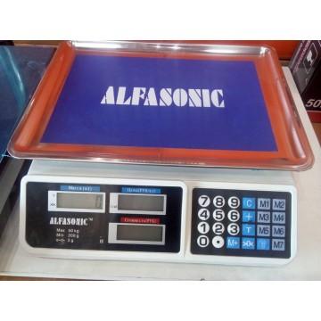 торговые электронные весы с цифровым диспеем от 5гр. до 50кг  (аккумулятор 6V)