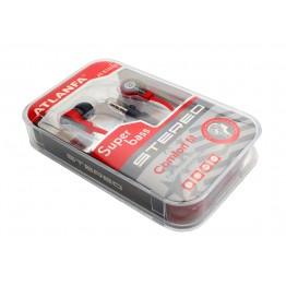 наушники вакуумные в пластик.упаковке ATLANFA AT-1026