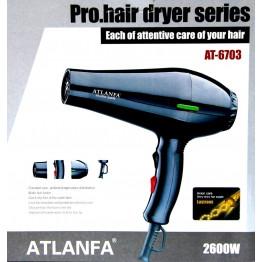 фен для укладки волос c насадкой, 2600w AT-6703