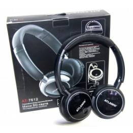 беспроводные наушники с MP3, FM-приемником, Bluetooth и аккумулятором AT-7612