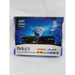 эфирная цифровая приставка в металлическом корпусе T2 с дислеем, разъёмом под Wi-Fi и пультом (Full HD 1080) AT-786