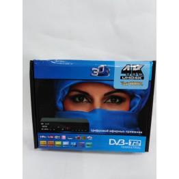 эфирная цифровая приставка в металлическом корпусе T2 с дислеем, разъёмом под Wi-Fi и пультом (Full HD 1080) AT-787