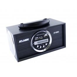 колонка с USB+SD+FM-приемник+дисплей+адаптер от сети, 2-динамика AT-8963