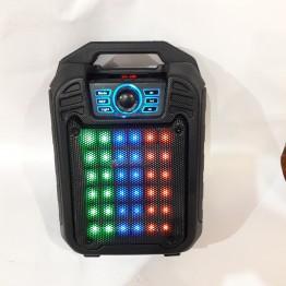 колонка мини-чемодан от сети и от аккумулятора с USB, SD, FM, AUX, Bluetooth, светомузыкой и с выходом на микрофон 32см*21см*13.5см, 9ватт B15