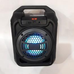 колонка мини чемодан от сети и от аккумулятора с USB, SD, FM, AUX, Bluetooth, светомузыкой, зкукозаписью и с выходом на микрофон 28.5см*21см*13.5см 9ват B30