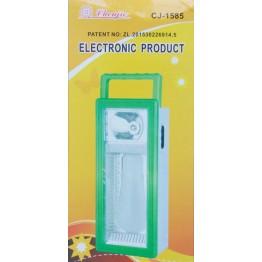 фонарик ручной+настольный и подвесной светильник 3-режимный, аккум+зарядка от сети+солн.батарея CJ-1583DT
