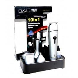 машинка для стрижки, бритья, удаления волос из ушей и носа от сети, с аккум. и c 10-ю насадками DL-1015