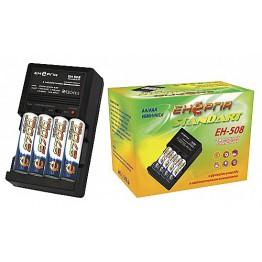 унив.заряд.устр.энергия EH-508 c авт.выкл,разряд(NIMN/NiCd AA/AAA)в упаковке    --------