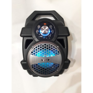 бумбокс колонка от сети и от аккумулятора с USB, SD, FM, Bluetooth, светомузыкой и с выходом на микрофон и AUX, 37см*25см*19см HY-01