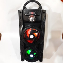 колонка мини чемодан от сети и от аккумулятора с USB, SD, FM, AUX, Bluetooth, светомузыкой и с выходом на микрофон 38см*16см*16см, 10ватт KB-510BT
