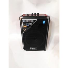 колонка в виде чемодана от сети и от аккумулятора с USB, SD, FM, Bluetooth с выходом на микрофон и AUX 32см*20см*13.5см KIPO KB-Q2
