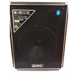 колонка в виде чемодана от сети и от аккумулятора с USB, SD, FM, Bluetooth с выходом на микрофон и AUX, 35см*29см*14см KIPO KB-Q3