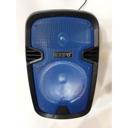 колонка в виде чемодана от сети и от аккум., с микрофоном, USB, SD, FM, Bluet., светомуз., разъемом под штатив, с выходом на AUX и 12V 39см*25см*21см KIPO KB-Q5