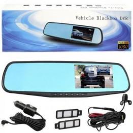 Видеорегистратор в виде зеркала, с двумя камерами (передней и задней), Full HD, дисплеем 4.3 дюймов L708