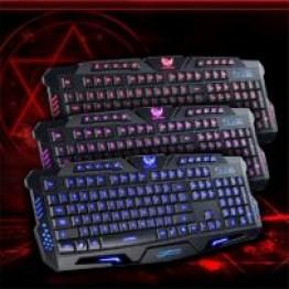 профессиональная проводная игровая клавиатура с 3-я подсветками молнии Razer M200L