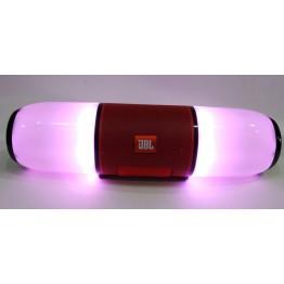 влагостойкая колонка JBL с USB, SD, FM, Bluetooth, 2-я динамиками и светомузыкой 28см*7.8см ME-6