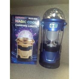 фонарик ручной, настольный и подвесной 2-режим. светильник со светомузыкой 10см-19см MUX-666