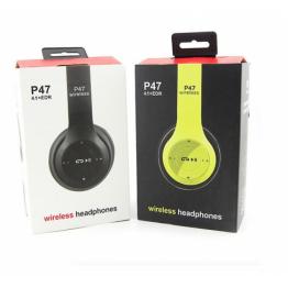 наушники складные c аккумулятором, Bluetooth, MP3-плеером и FM-приемником P47