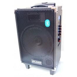 колонка в виде чемодана микроф., USB, SD, FM, Blue. с выходом наAUX и на аккум. 12V 49см*18см*23см AT-Q13