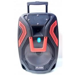 колонка в виде чемодана со светомуз., микроф., USB, SD, FM, Blue. с выходом наAUX и на аккум. 12V 60см*24см*35см AT-Q15