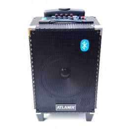 колонка в виде чемодана с микроф., USB, SD, FM, Blue. с выходом наAUX и на аккум. 12V 44см*26см*18см AT-Q6
