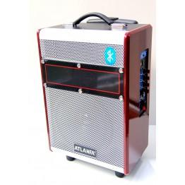 колонка в виде чемодана с микроф., USB, SD, FM, Blue. с выходом наAUX и на аккум. 12V 44см*28см*18см AT-Q8