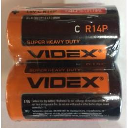 батарейка VIDEX 1.5V C R14P (2шт/24шт/480шт)