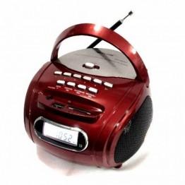 бумбокс колонка от сети и от аккумулятора с USB, SD, FM, светомузыкой  с выходом на AUX и микрофон в комплекте 16.5см*16.5см*10см GOLON RX-186QI