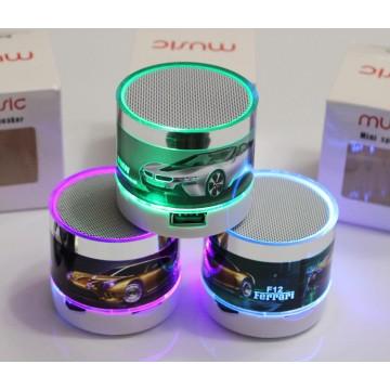 колонка с USB, SD, Bluetooth, 1-динамиком и подсветкой с рисунком 6.7см*4.7см A70U-1