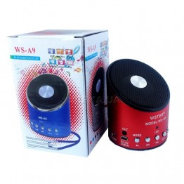 колонка с USB, SD, FM, 1-динамиком со съёмным аккумулятором WS-A9