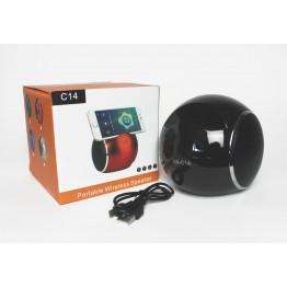 колонка с USB, SD, FM, Bluetooth, 2-динамиками и подставкой для телефона 11см*10см XN-C14
