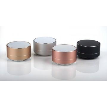 колонка с USB, SD, Bluetooth, 1-динамиком и подсветкой однотонная перламутровая 7см*4.7см A10U
