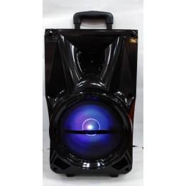 колонка в виде чемодана от сети и от аккум., с беспроводным микрофоном, USB, SD, FM, Bluet., светомуз., с выходом на AUX и 12V 51см*27см*26.5см BK-801
