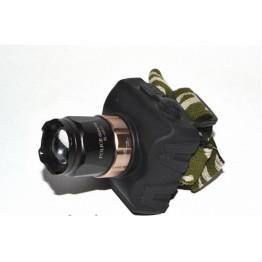 фонарик налобный с аккум., заря.устр. от сети и от прикуривателя и зумом (police) BL-6831