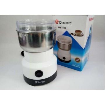 электроимпульсная кофемолка из нержавеющей стали пластик.корпусом 150ватDomotec MS-1106