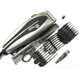 машинка для стрижки волос от сети с 4-я насадками, ножницами и расческой DOMOTEC MS-4610