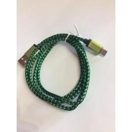 кабель переходник с USB на микро USB тканевый плетеный s-728