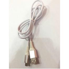 кабель переходник с USB на микро USB силиконовый чешуя с защитой штекера s-734