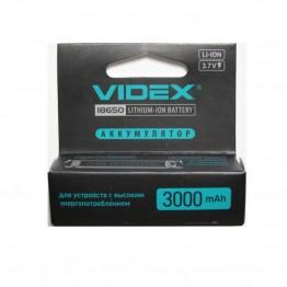 аккумулятор VIDEX Li-ION с защитой от перегрева 18650 3000mAh 3.7V (1шт/20шт/160шт)