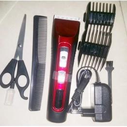 машинка для стрижки от сети, с аккумулятором, насадками, ножницами и расческой Z-301
