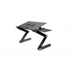 стол для ноутбука с вентилятором, держателем для мышки и регулировкой высоты LAPTOP TABLE T8